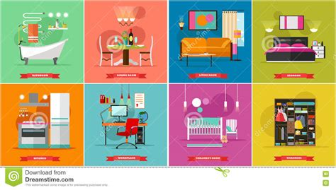 home interior vector home interior vector illustration in flat style stock