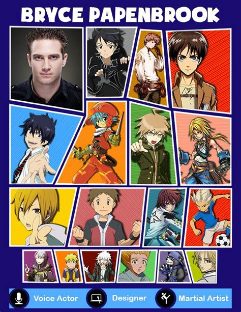 B Anime Voice Actors by Bryce Papenbrook Voice Actings Anime Voice Actors