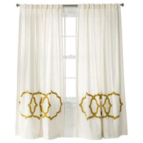 target living room curtains fretwork border curtain panel threshold window panels