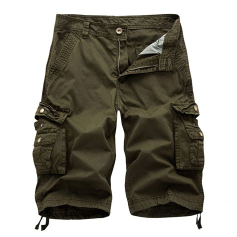 light cotton pants mens cool shorts lightweight cotton cargo combat half