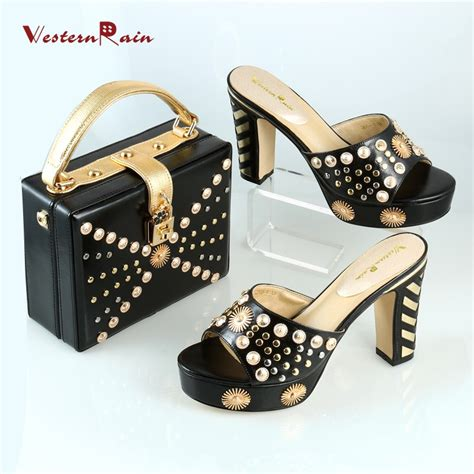 Bag And Shoes Dapat 1 Set westernrain white dress bag matching shoe set high quality shoes and bags set