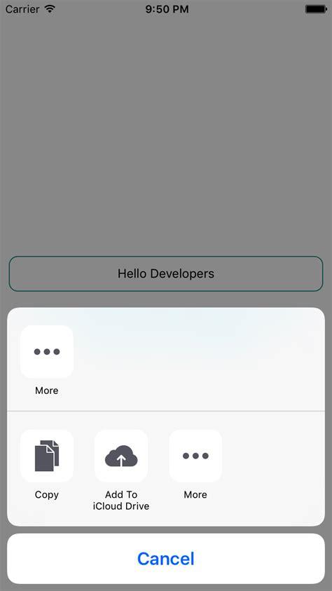 react native ios app tutorial react native share api exle to share textinput message