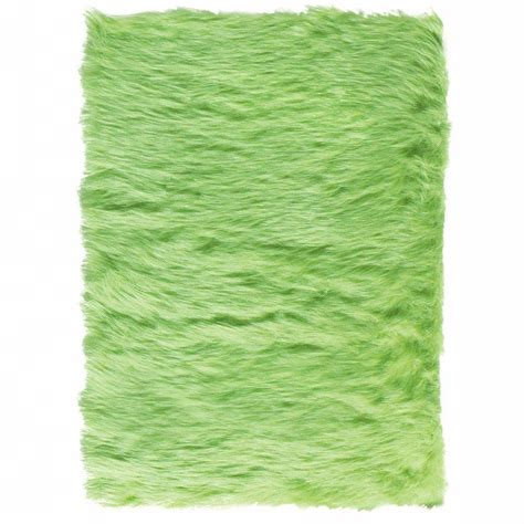 Home Decorators Collection Faux Sheepskin Lime 8 Ft X 11 Faux Sheepskin Area Rug