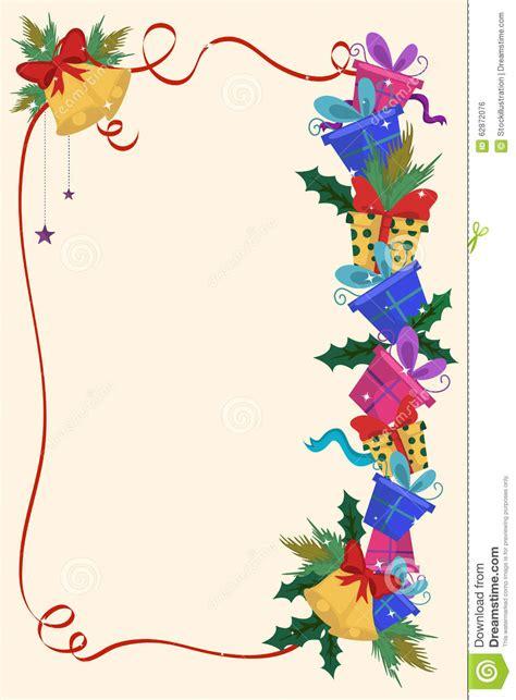 merry christmas border  decoration frame stock vector