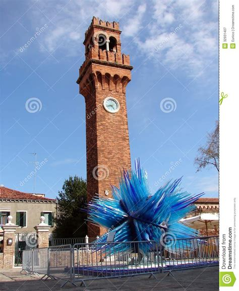 santo stefano mirano clock tower in murano co santo stefano stock image