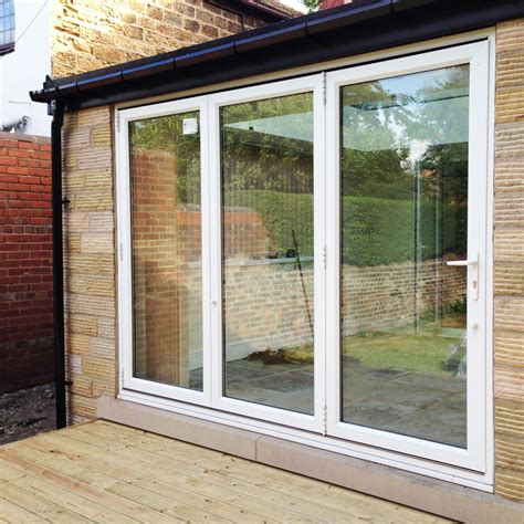 12 Foot Patio Doors 12ft White Upvc Bifold Folding Doors Flying Doors