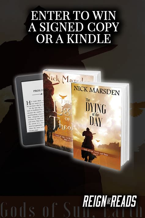 win a kindle or signed win signed copies or a kindle paperwhite from author nick