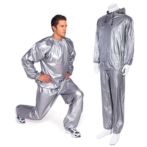 Sweat Suit Sauna silver sauna sweat suit hoodie neck to ankle for weight