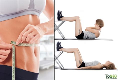 simple exercises  flatten  belly top  home
