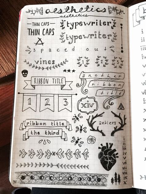 Design Journal Template | bullet journal bullets doodle fonts and good ideas