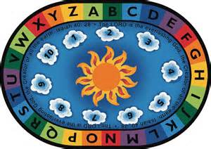 isaiah 40 28 circle time rug 6 9 quot x 9 5 quot oval 79406