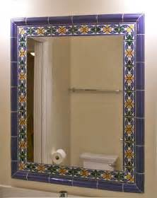 tile framed mirror mediterranean bathroom other metro by james hill architect aia