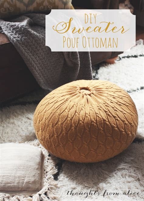 how to make pouf ottoman diy sweater pouf ottoman