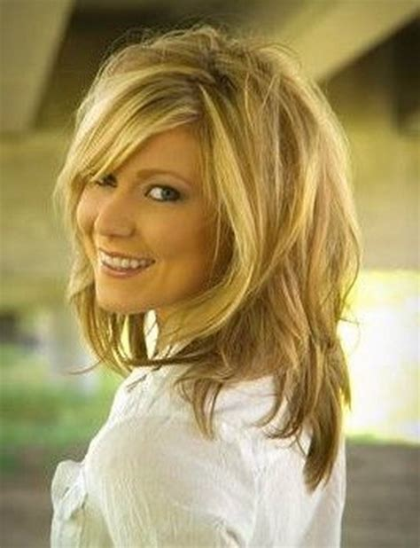 medium very layered hair medium shaggy layered hairstyles