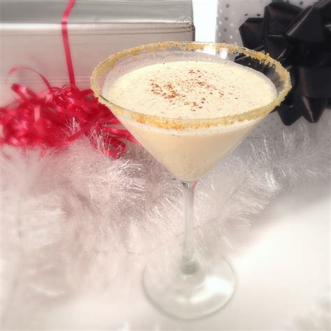 martini eggnog eggnog martini cocktail video popsugar food