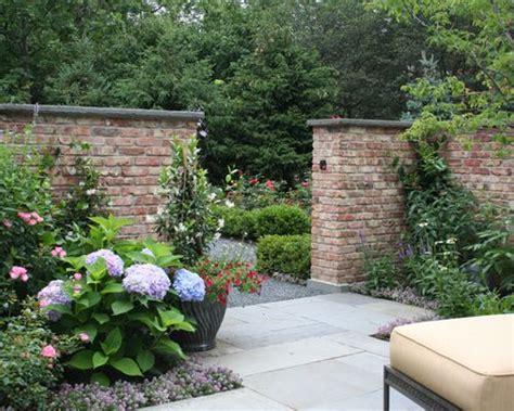 brick garden walls brick garden wall houzz