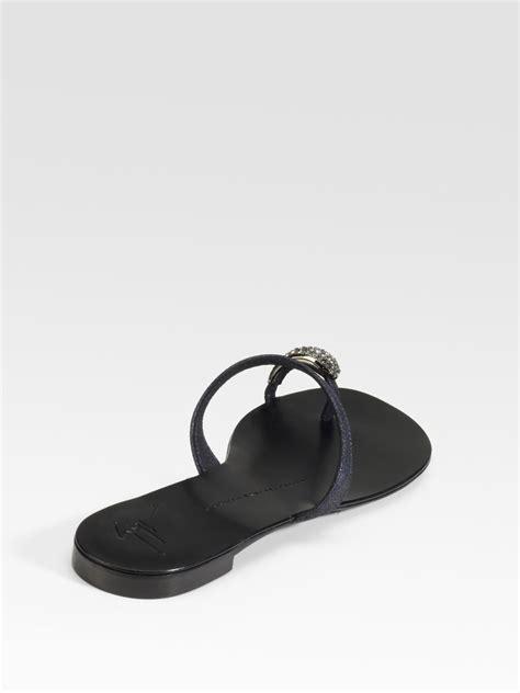 giuseppe zanotti toe ring sandal giuseppe zanotti jeweled toe ring sandals in black lyst
