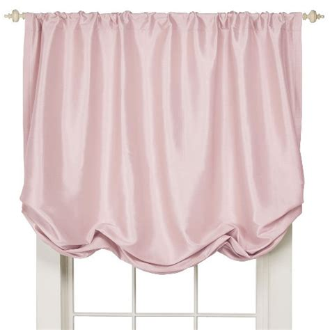 faux silk balloon shade window valance simply shabby