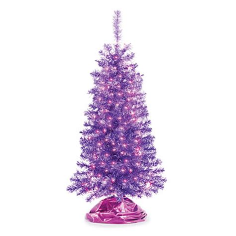 artificial tree with lots of lights 4 pre lit artificial purple tree with purple