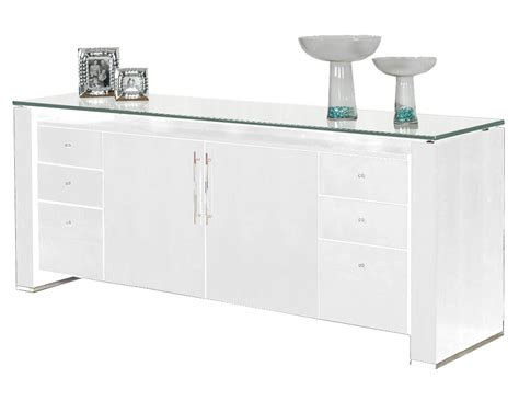 How Decorate Home vitra white gloss credenza