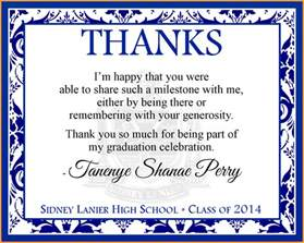thank you cards for graduation letter format mail