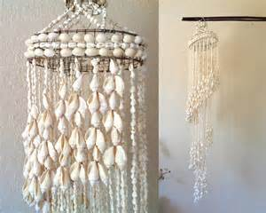 Seashell Chandelier Diy Hanging Seashell Mobile Chandelier Display Vintage