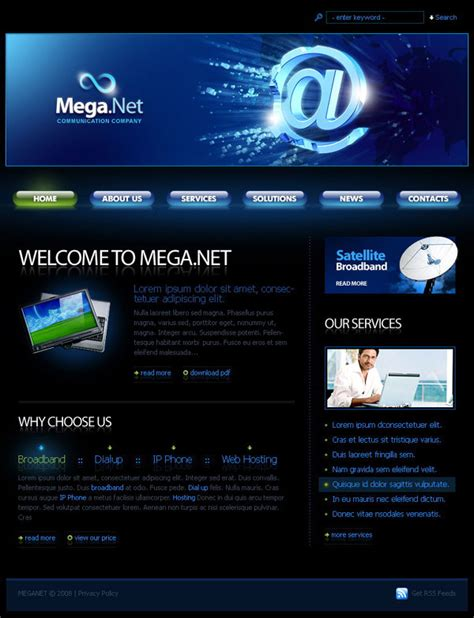 templates for technology website information technology company template over millions