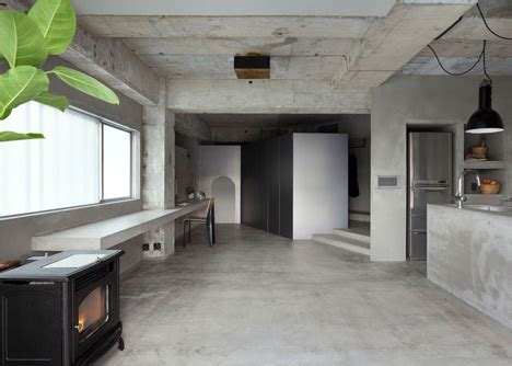 concrete floor apartment concrete apartment by airhouse design office displays clothing