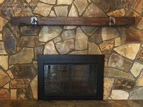 fireplace mantels  metal straps  iron accents part  antique woodworks