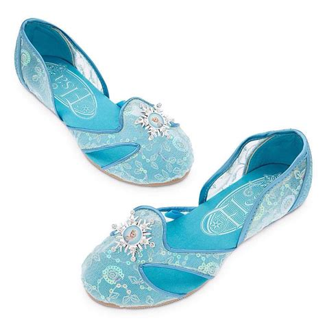 elsa shoes disney store frozen elsa costume dress up shoes sz 7 8 9