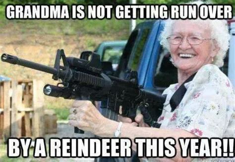 Meme For Grandmother - grandma is not getting run over this year a fun