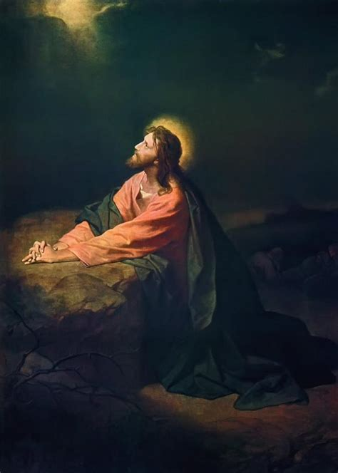 jesus  gethsemane glossy poster picture photo christ