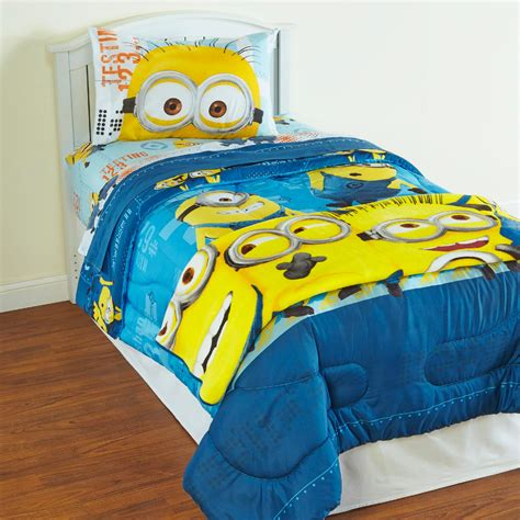 minion comforter despicable me minions plush blanket home bed bath