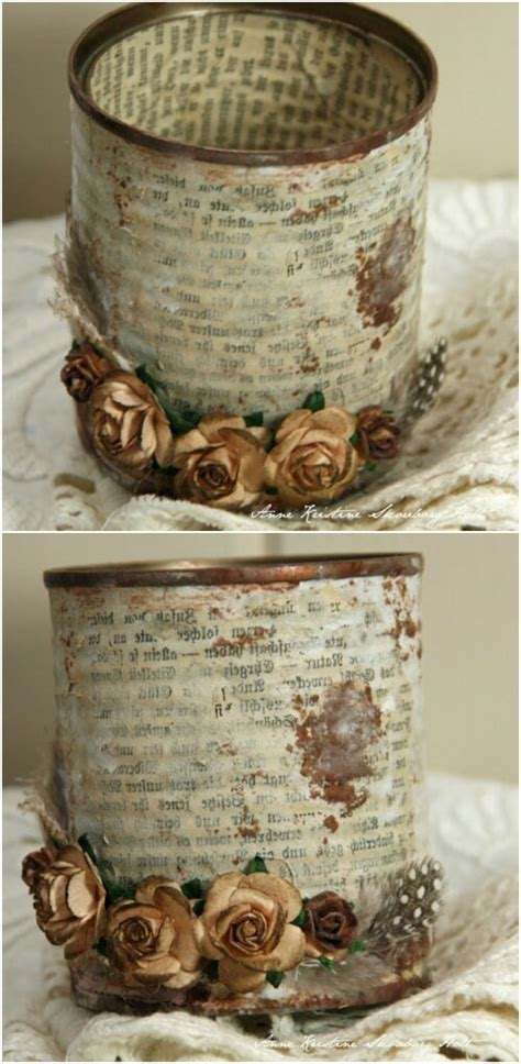 vintage craft projects 50 jaw dropping ideas for upcycling tin cans into
