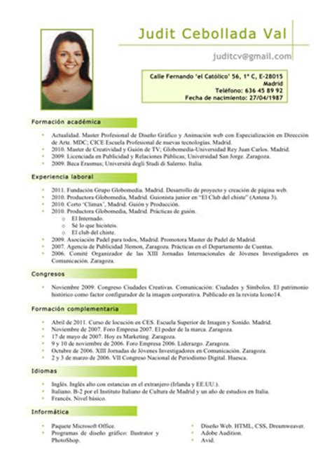 Curriculum Vitae Pdf by Modelo De Curriculum Vitae Pdf Modelo De Curriculum Vitae