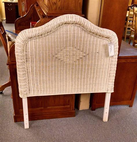 twin wicker headboard white wicker twin headboard delmarva furniture consignment