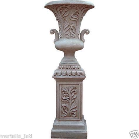 Planter Urns Pedestal by Urn Planter W Leaf Handles Large Outdoor Poly On