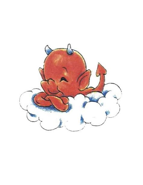 demon baby tattoo designs baby horned on cloud free design ideas