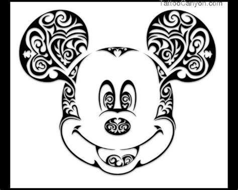 tribal mickey mouse tattoos mickey mouse stencil keres 233 s disney