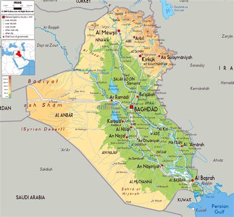 map for iraq maps of iraq detailed map of iraq in tourist