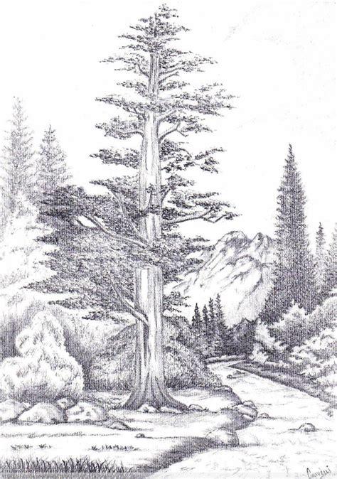 imagenes de paisajes dibujados a lapiz dibujos a lapiz de paisajes naturales www imgkid com