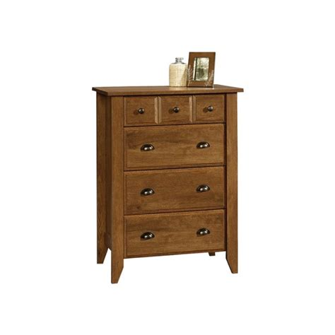 Sauder Shoal Creek 6 Drawer Dresser Oak by Sauder Shoal Creek 4 Drawer Chest Oak Chests Single In