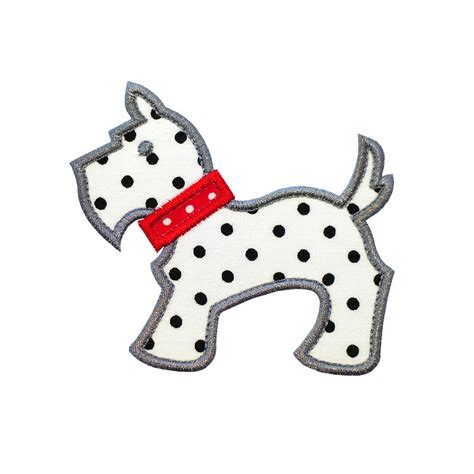 embroidery design dog scottie dog machine embroidery applique design 2 patterns