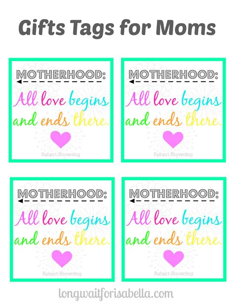 walmart printable gift tags perfect gift basket for the mom in your life