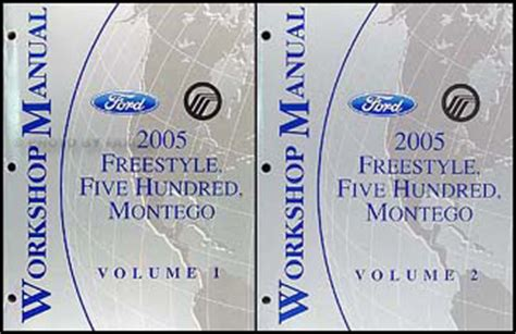 online auto repair manual 2006 ford freestyle electronic toll collection 2005 freestyle 500 montego repair shop manual original