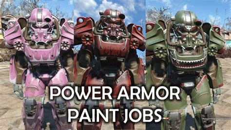 fallout 4 power armor paint locations