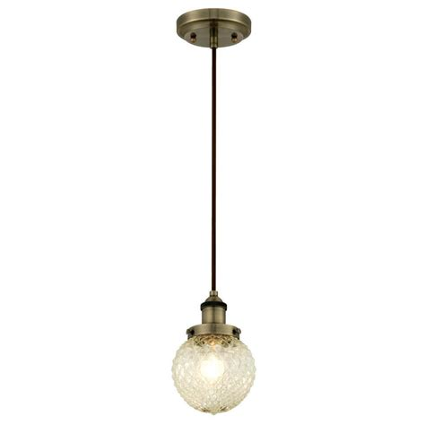 Light Mini Pendant Westinghouse 1 Light Antique Brass Mini Pendant 6346600 The Home Depot