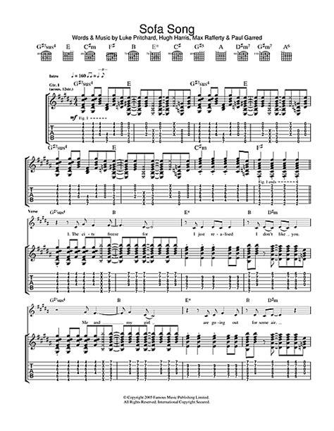 sofa song lyrics the kooks sofa song sheet music