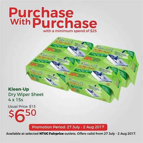 27 jul 2 aug 2017 kleen up purchase with purchase promotion sg everydayonsales