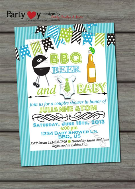 Baby Bbq Shower by Bbq And Baby Joint Baby Shower Boy By Partyinvitesandmore